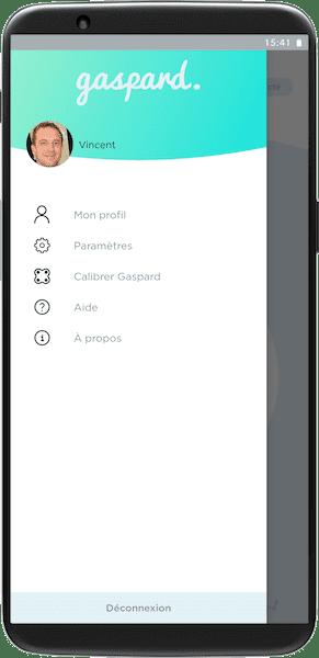 Application gaspard menu