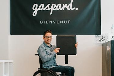 Morgan créateur de gaspard : dispositif anti-escarre sous coussin anti-escarre fauteuil roulant