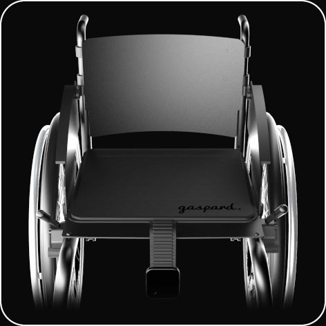 Etape 1 installation gaspard sur fauteuil roulant