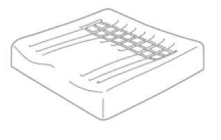 Visuel d'une mousse à haute résilience moulée